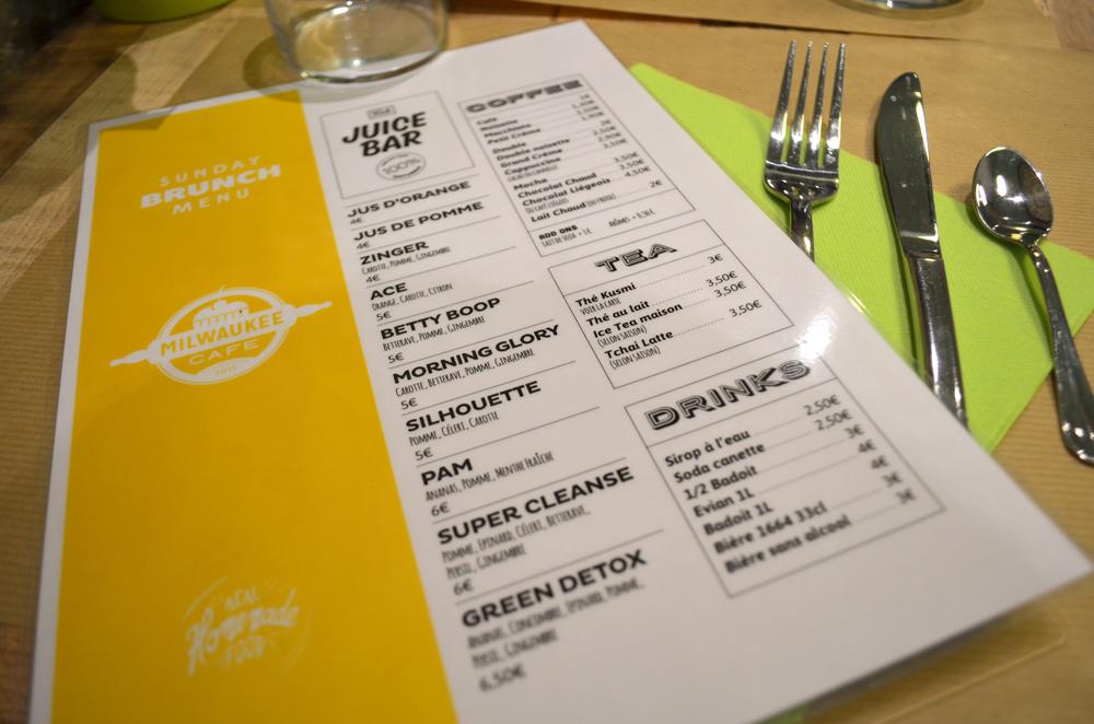 Menu Brunch Milwaukee Café