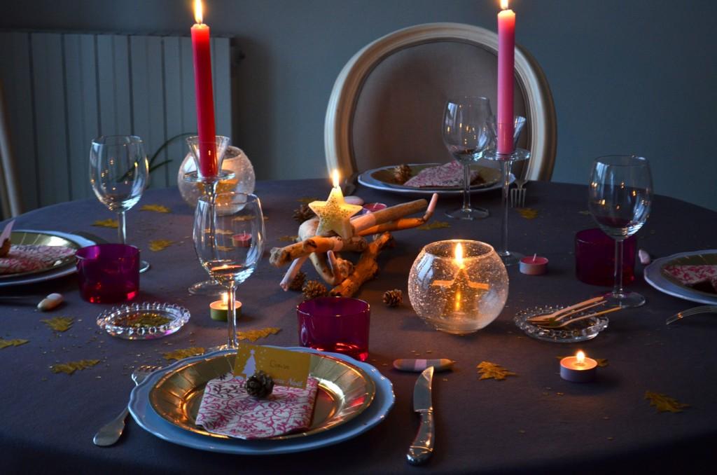 Table Noel Or et Prune