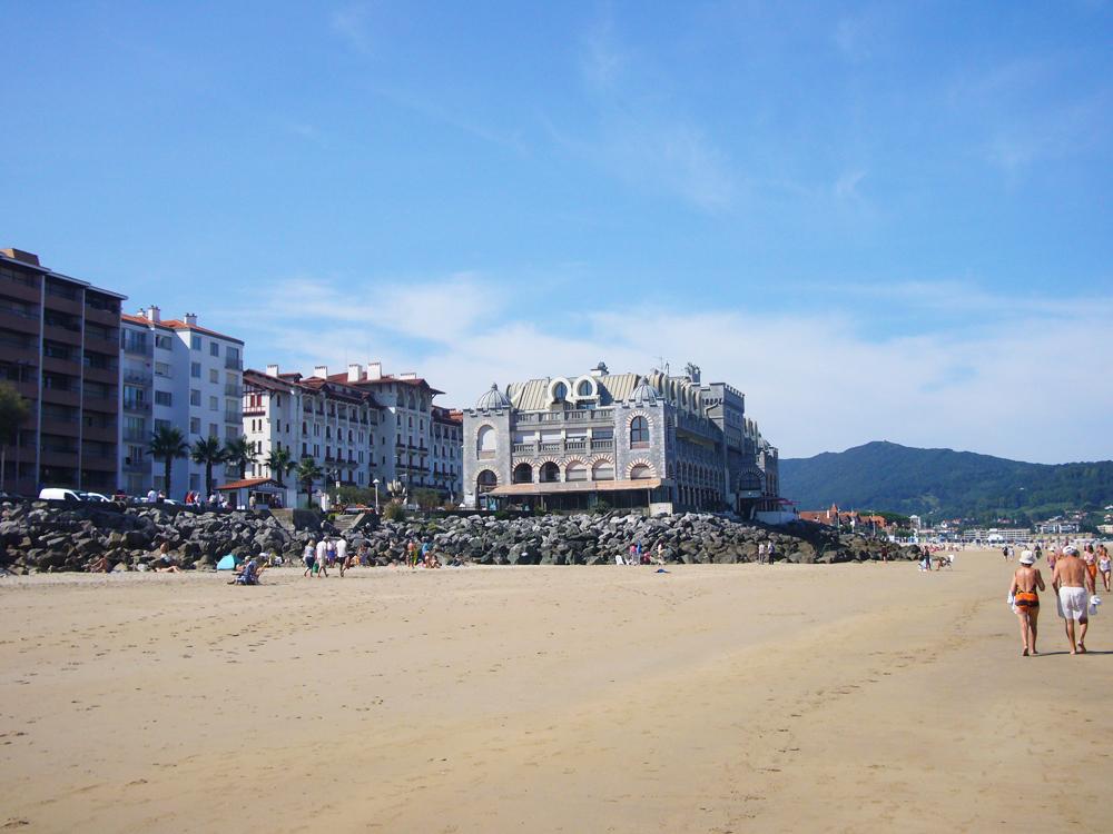 Hendaye marche sur plage