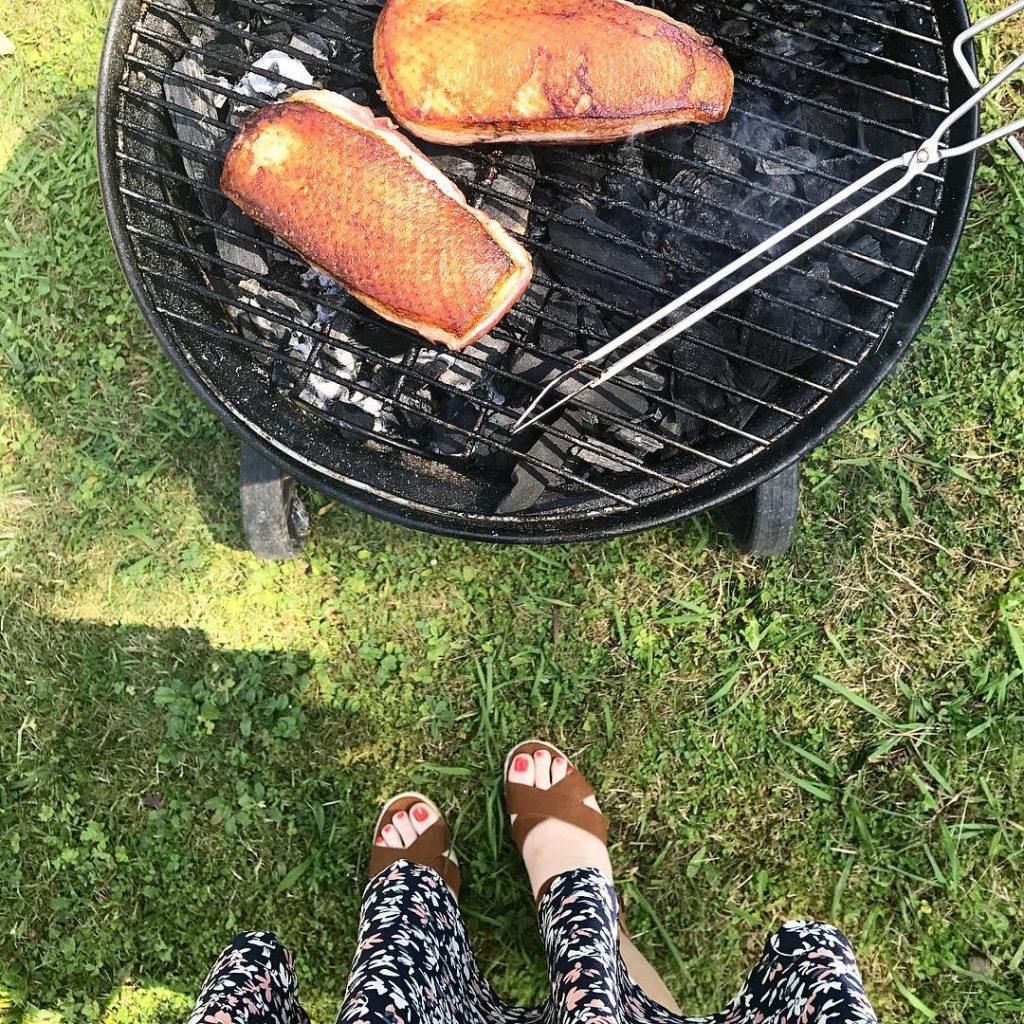 Des landais au Pays basque barbecue magret canard landes paysbasquehellip