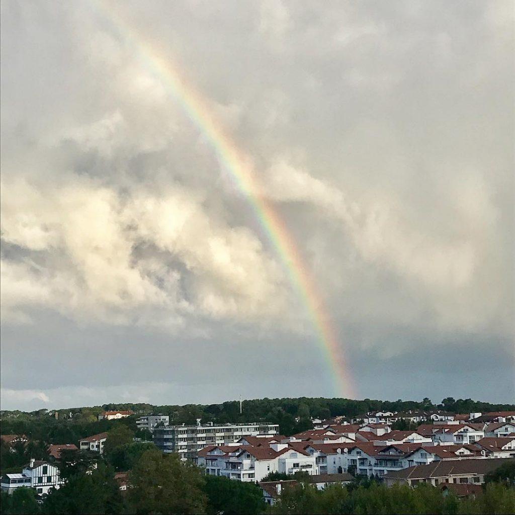 Bonjour Anglet ! rainbow anglet magnifique instagood paysbasque cotebasque entrepluieetsoleilhellip